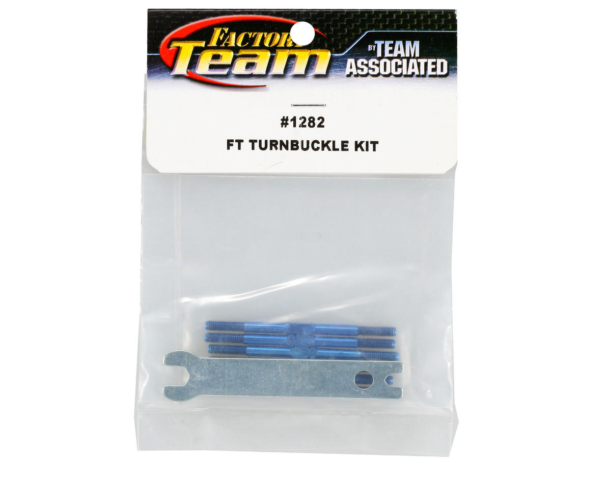 Titanium Turnbuckle Set (Blue) (B4/B5) by Team Associated