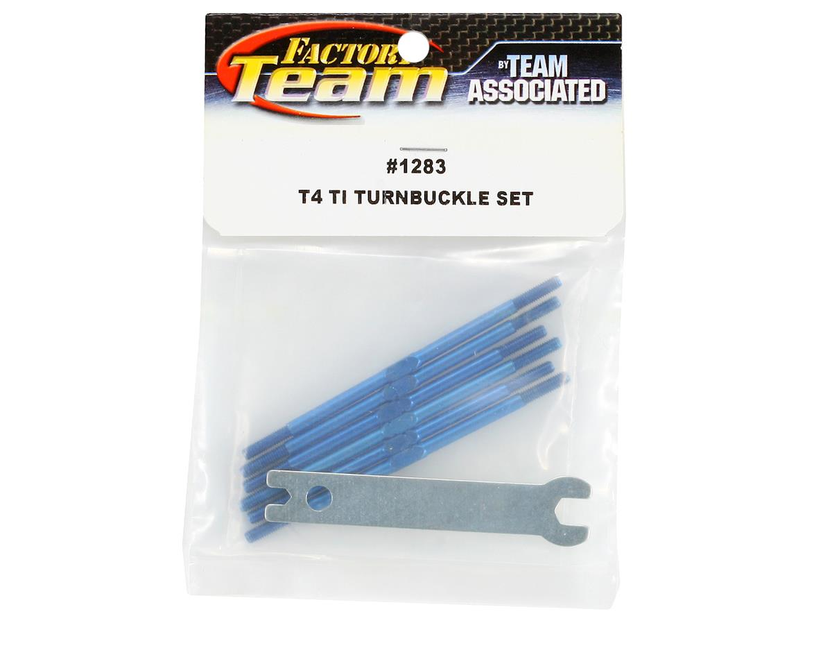 Team Associated Titanium Turnbuckle Set (Blue) (T4)