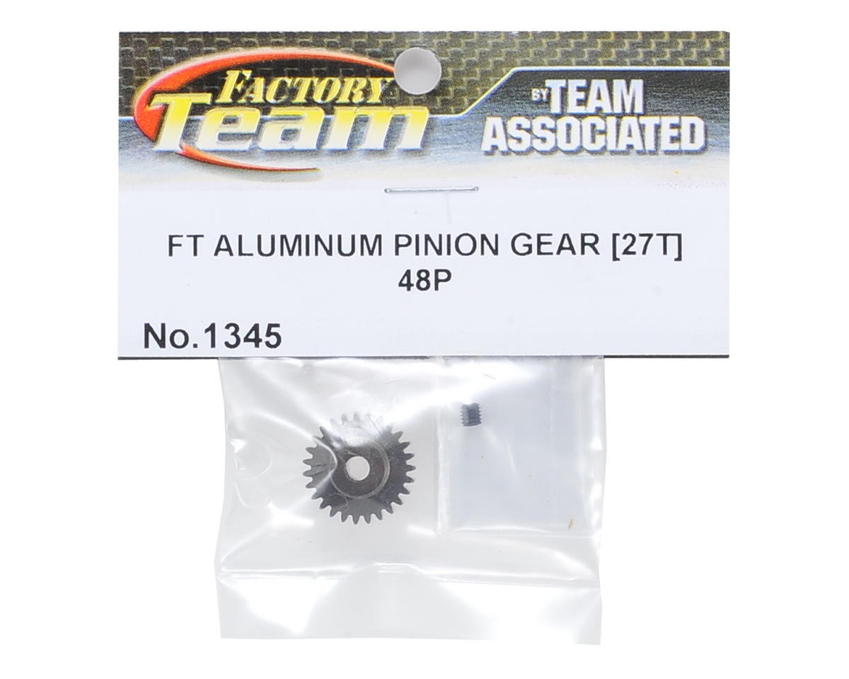 Factory Team Aluminum 48P Pinion Gear (3.17mm Bore) (27T) by Team Associated