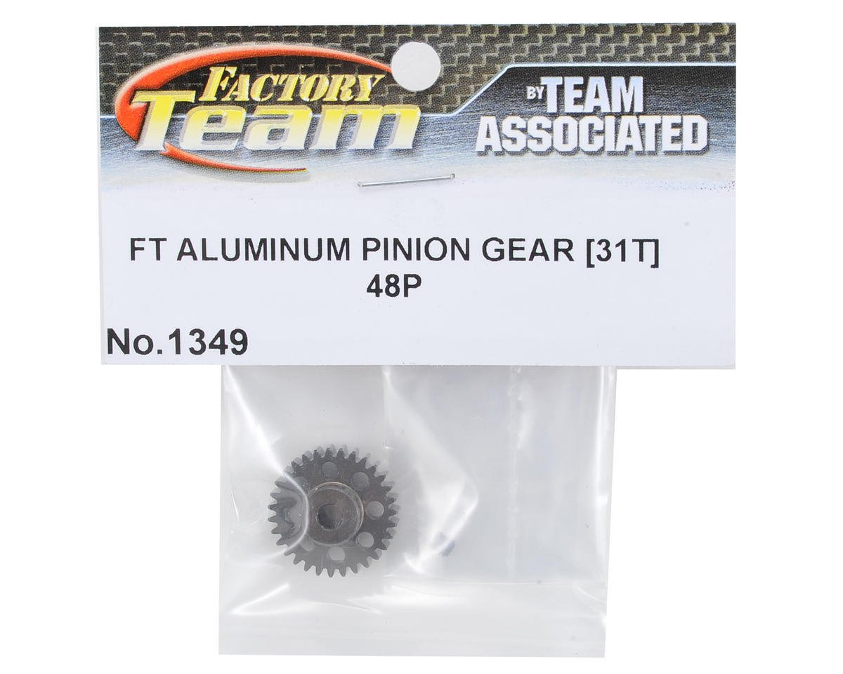Factory Team Aluminum 48P Pinion Gear (3.17mm Bore) (31T) by Team Associated