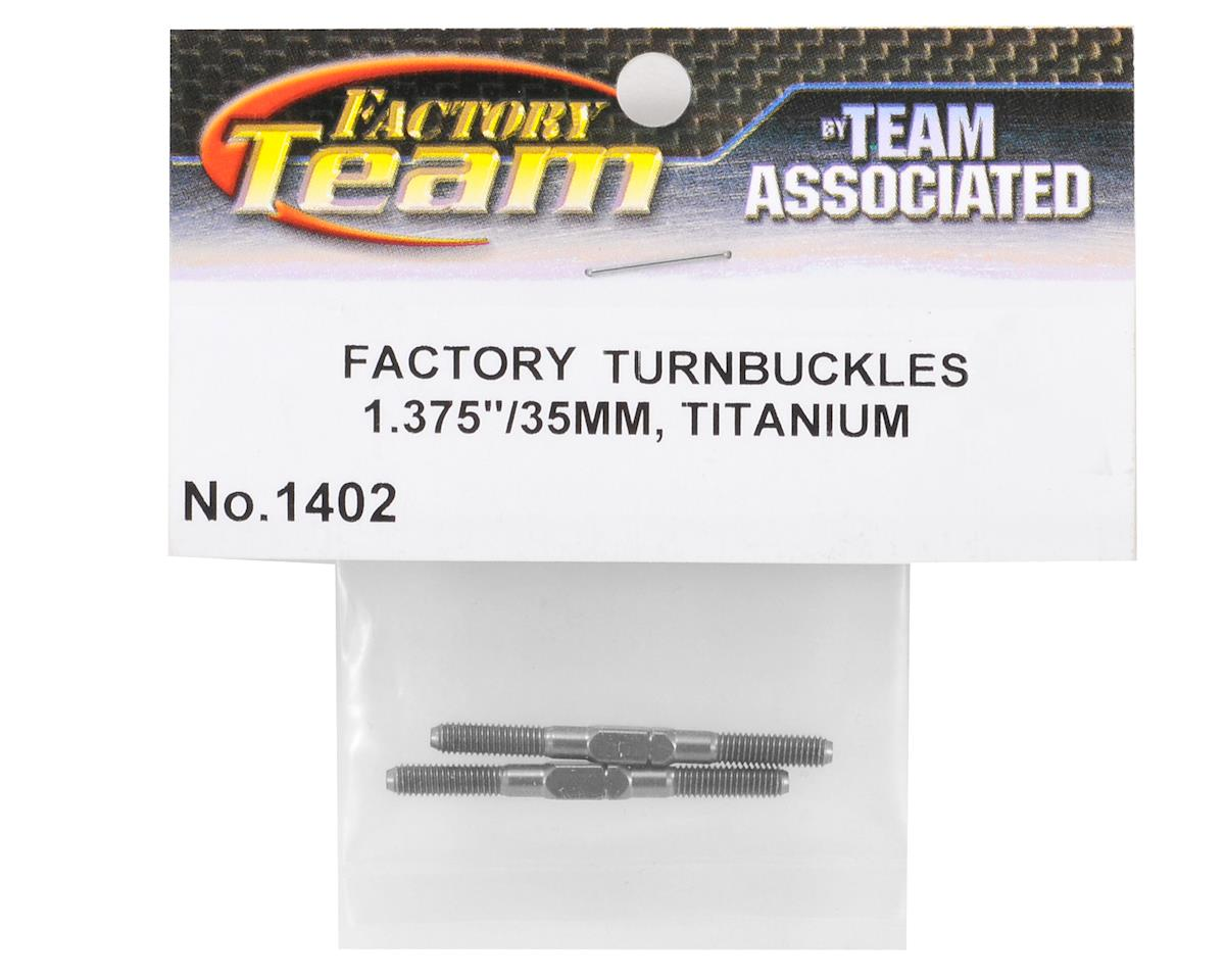"Team Associated 1.375"" Titanium Turnbuckle Set (Blue) (2)"