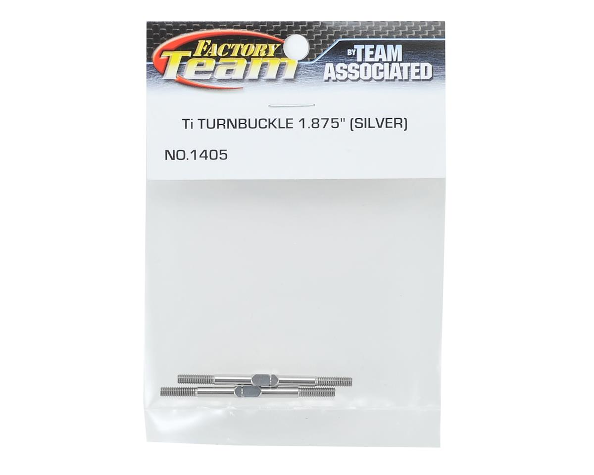 "Team Associated 1.875"" Titanium Turnbuckle Set (Silver) (2)"