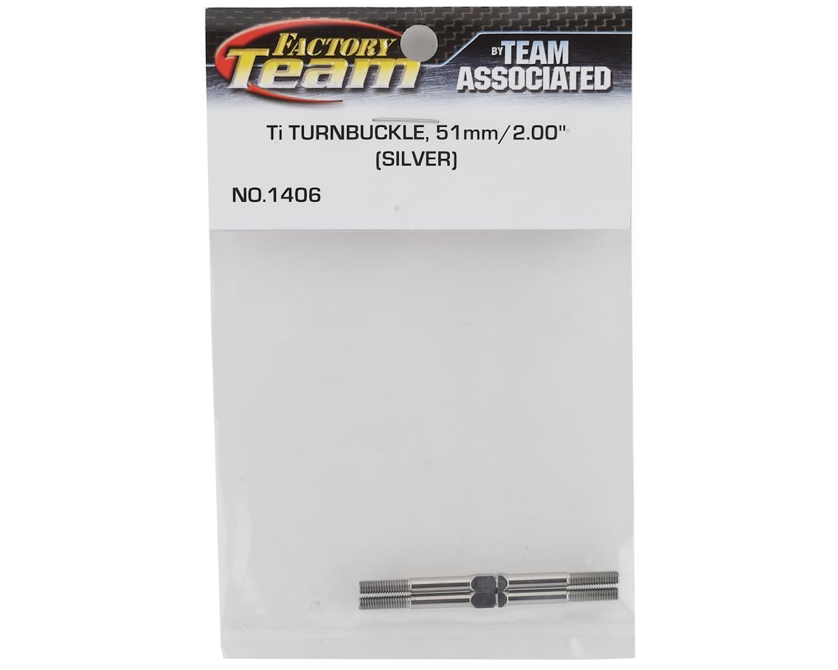 """Turnbuckle 2.00"""" 51mm Blue (2) (B4/B5/B44) by Team Associated"""