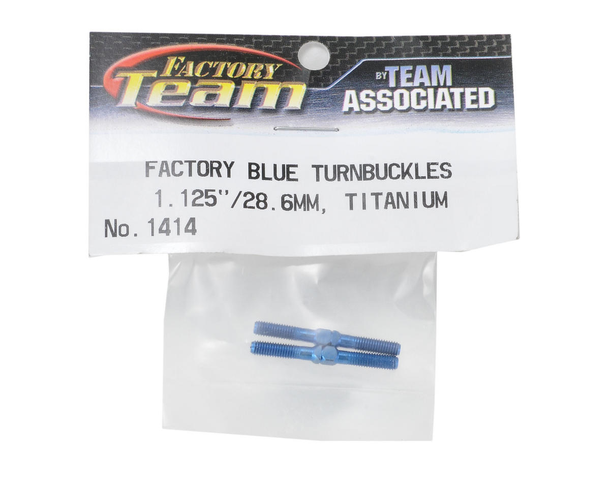 "Team Associated 1.125"" Titanium Turnbuckle (Blue)"