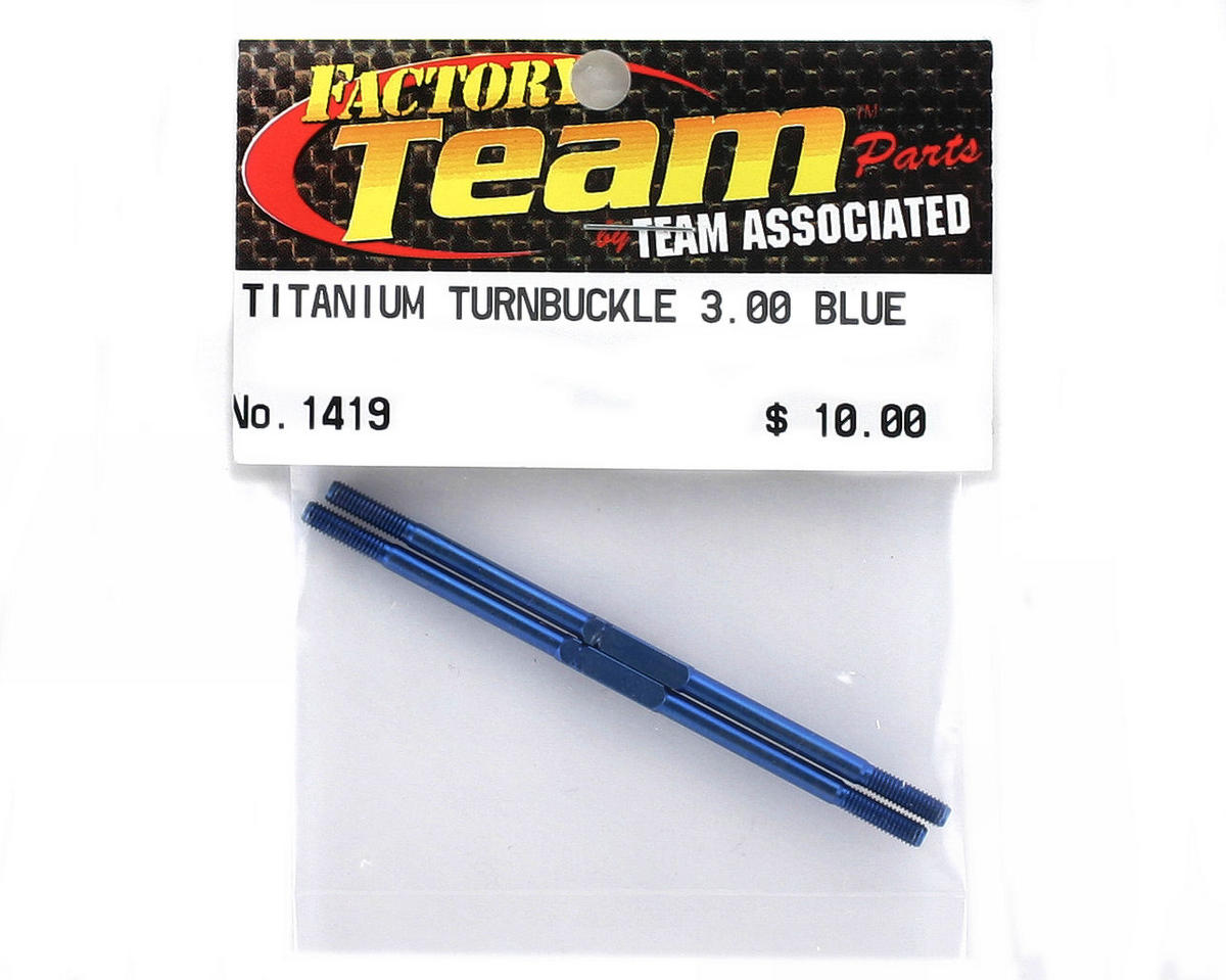 "Team Associated Factory Team 3.0"" Titanium Turnbuckle (Blue) (2)"