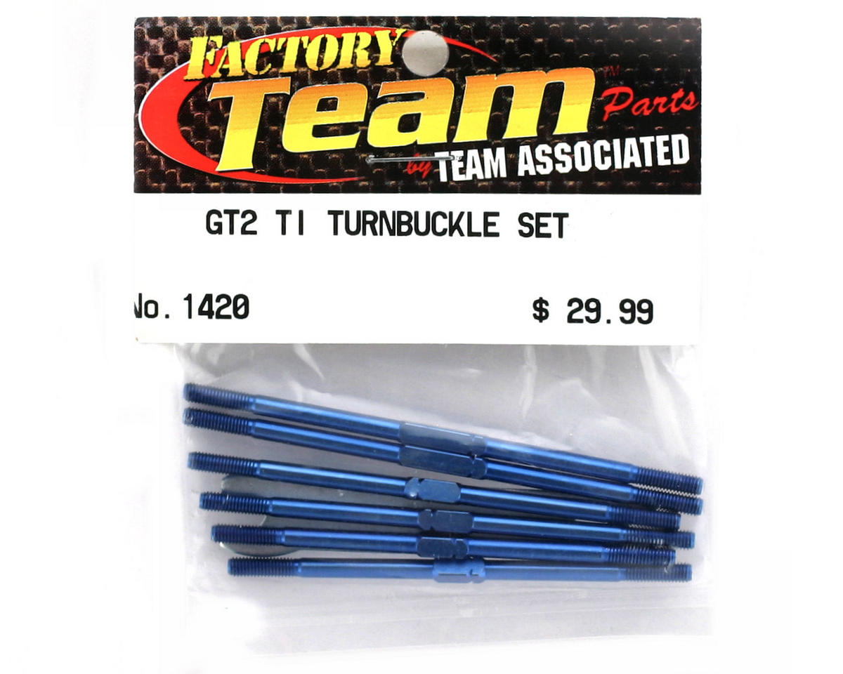 Team Associated Factory Team Titanium Turnbuckle Set (GT2) (Blue)
