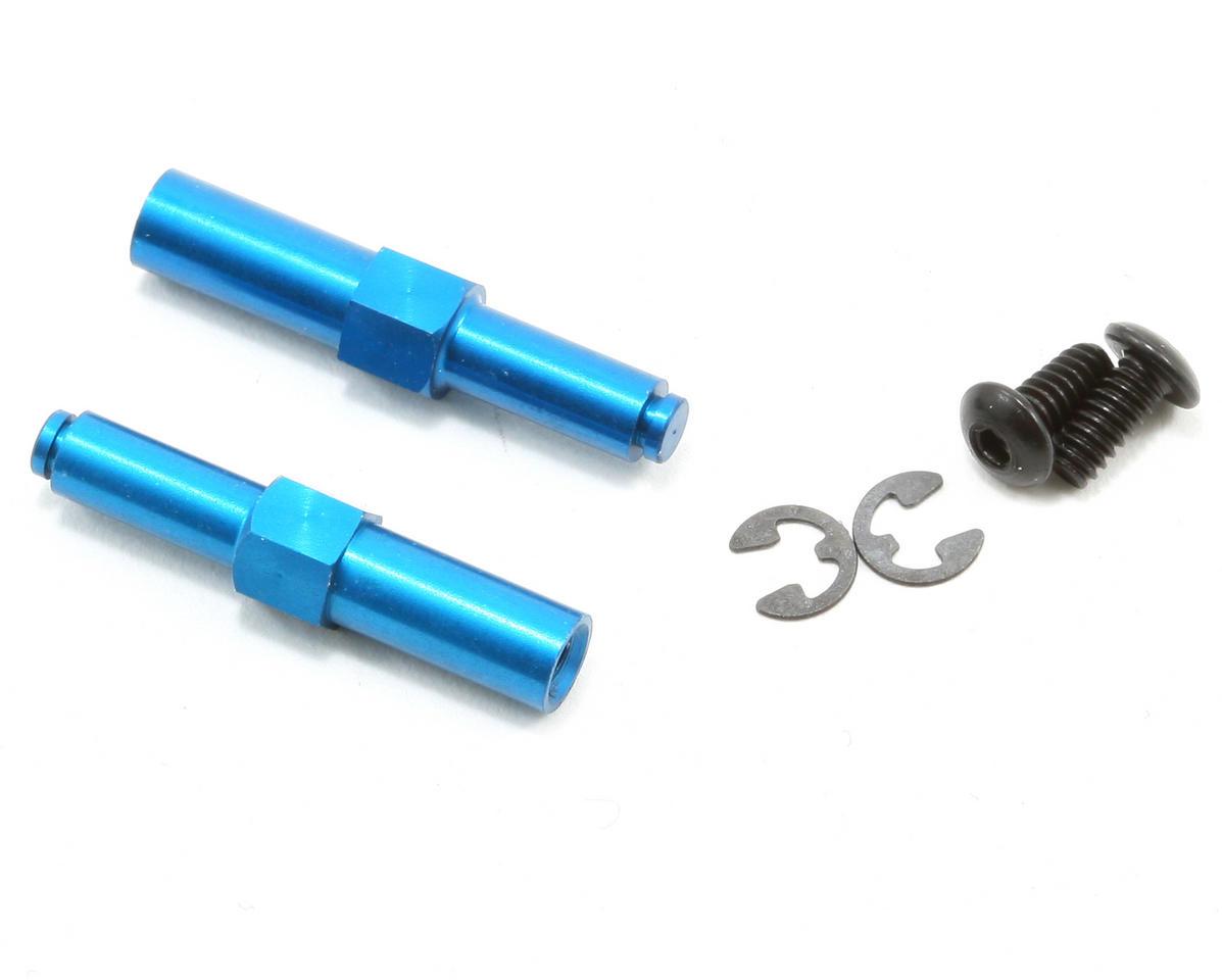 Team Associated Aluminum Front Axle (Blue) (B4)