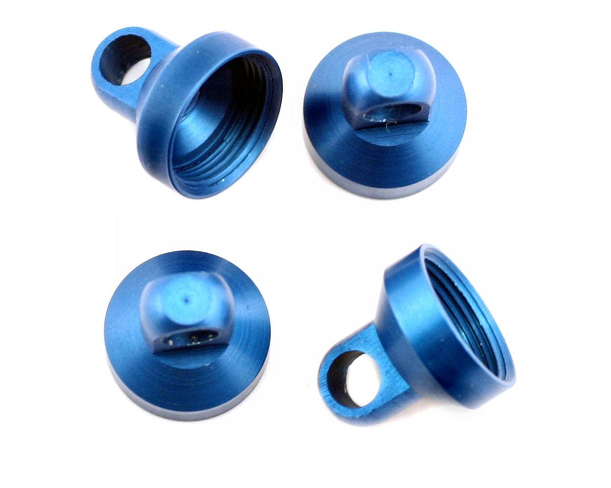 Factory Team Aluminum Shock End Cap (Blue) (4) by Team Associated