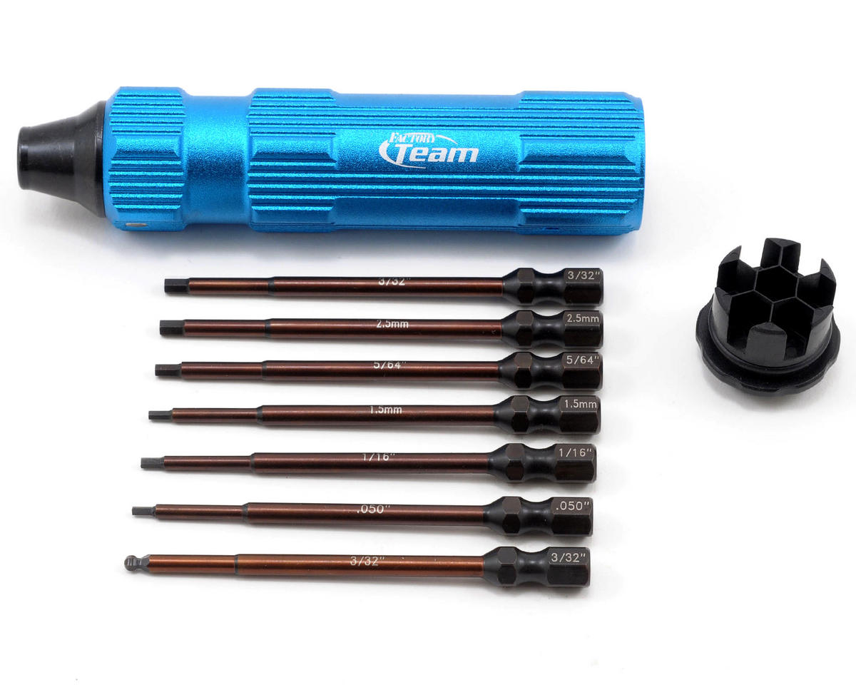 Team Associated Factory Team 8 Piece 1/4� Drive Hex Driver Set w/Handle