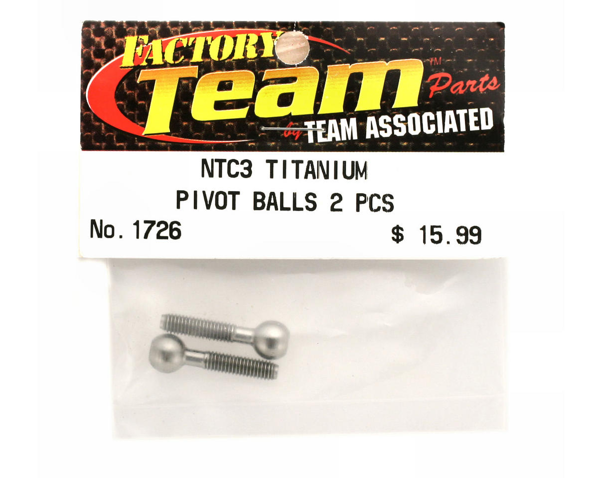 Team Associated Factory Team Titanium Pivot Balls (Nitro TC3)