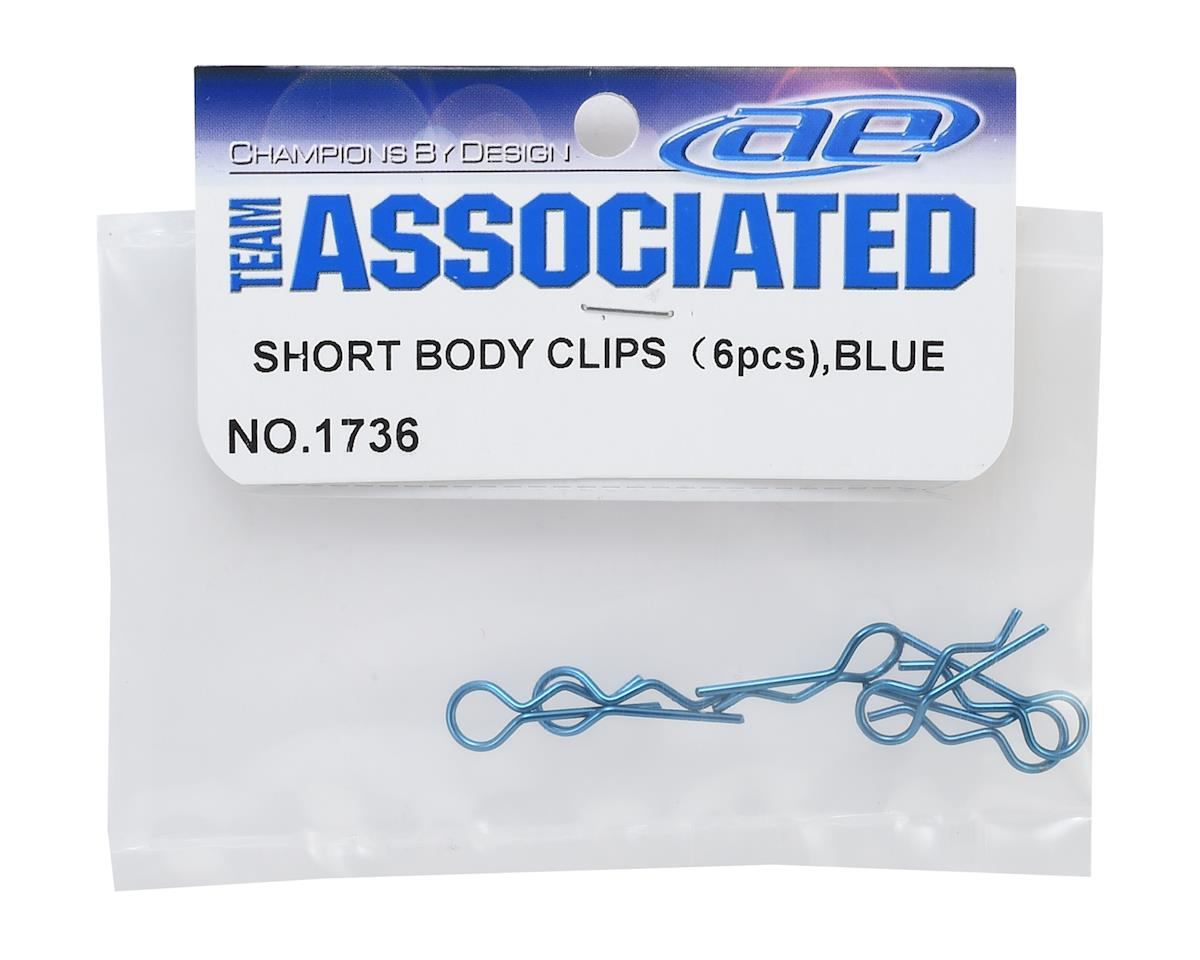 Team Associated Factory Team Body Clips (Blue)