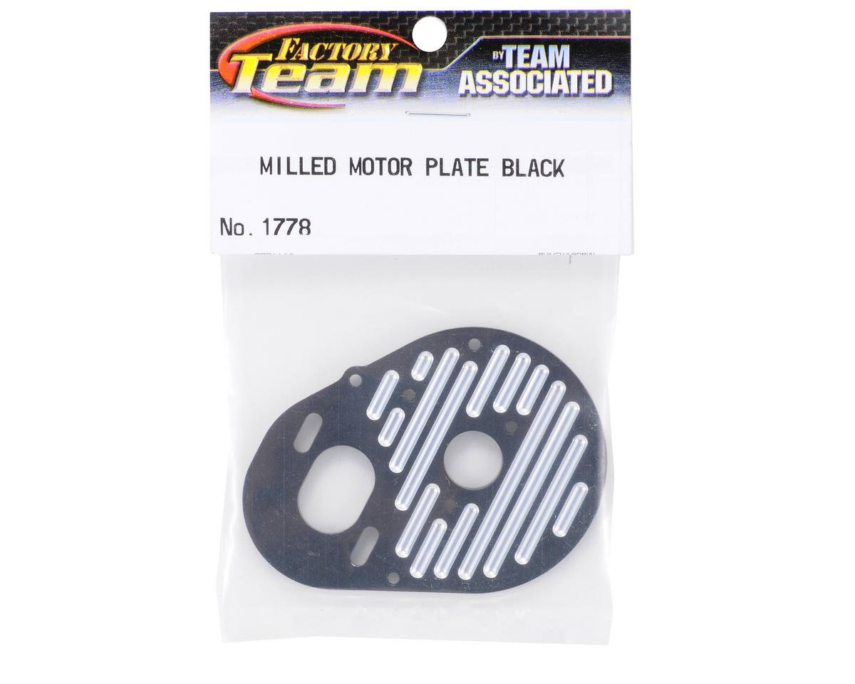 Team Associated Factory Team Milled Aluminum Motor Plate (Black)