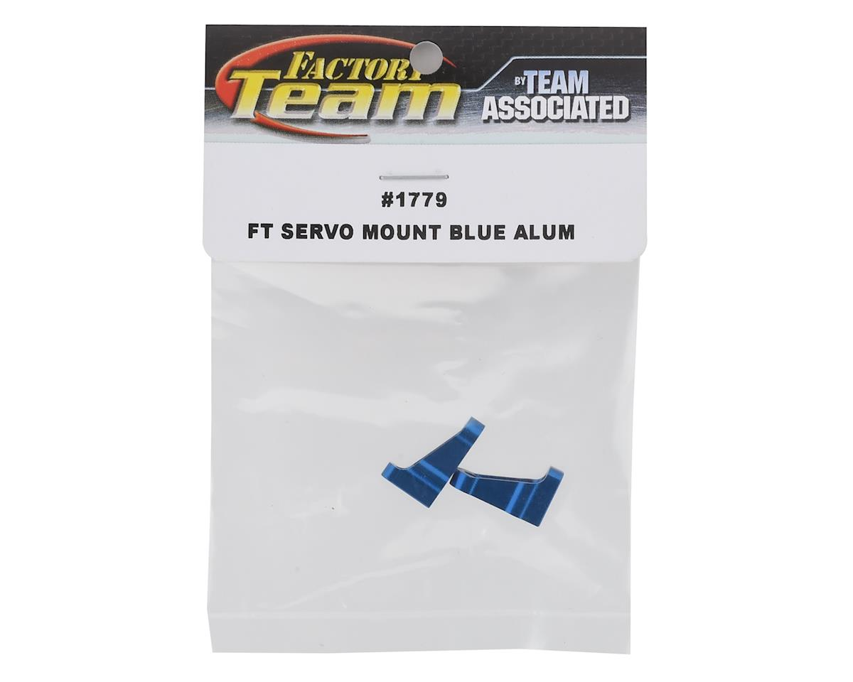 Team Associated Factory Team Servo Mount (Blue) (2)