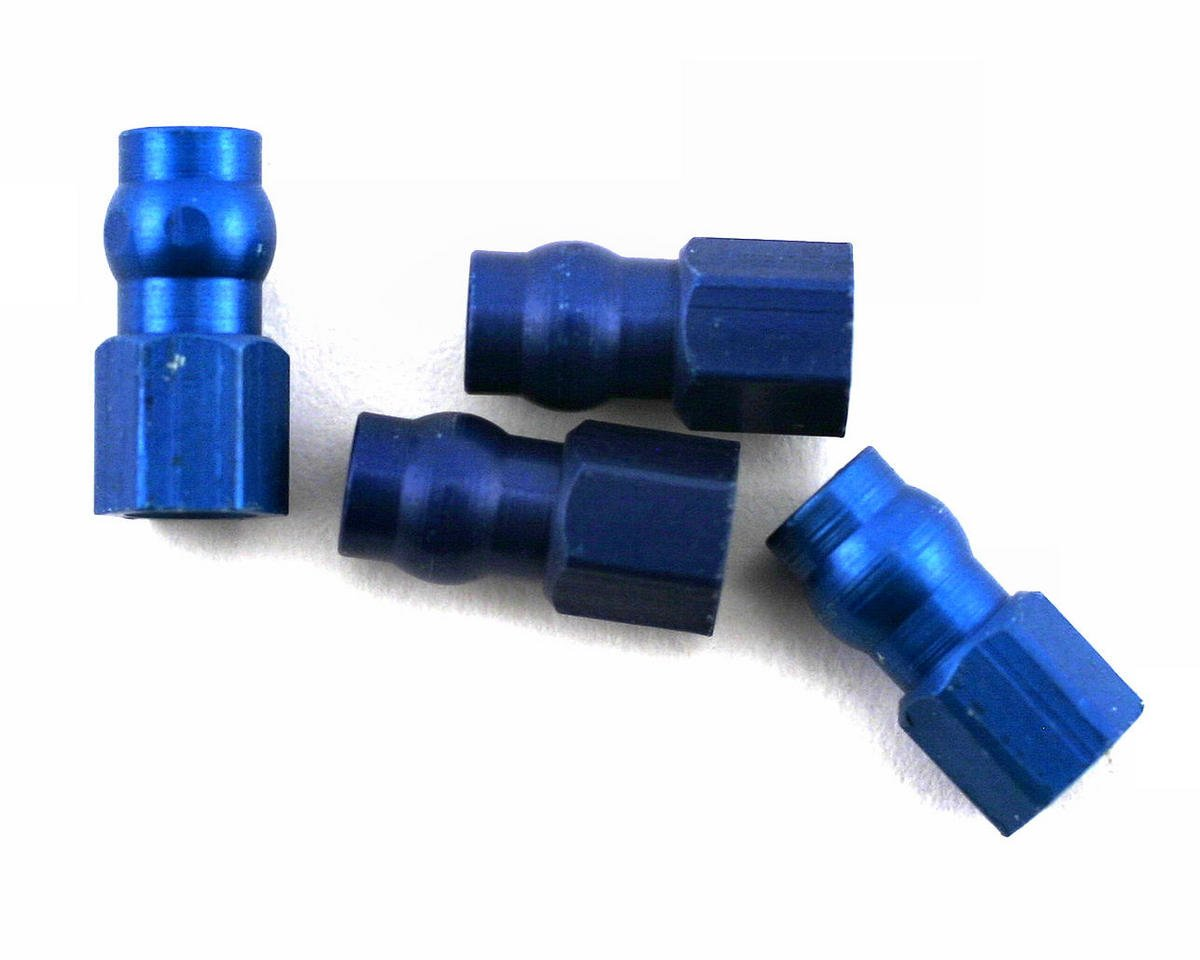 Team Associated RC10 GT Factory Aluminum Shock Bushing (Blue) (4)