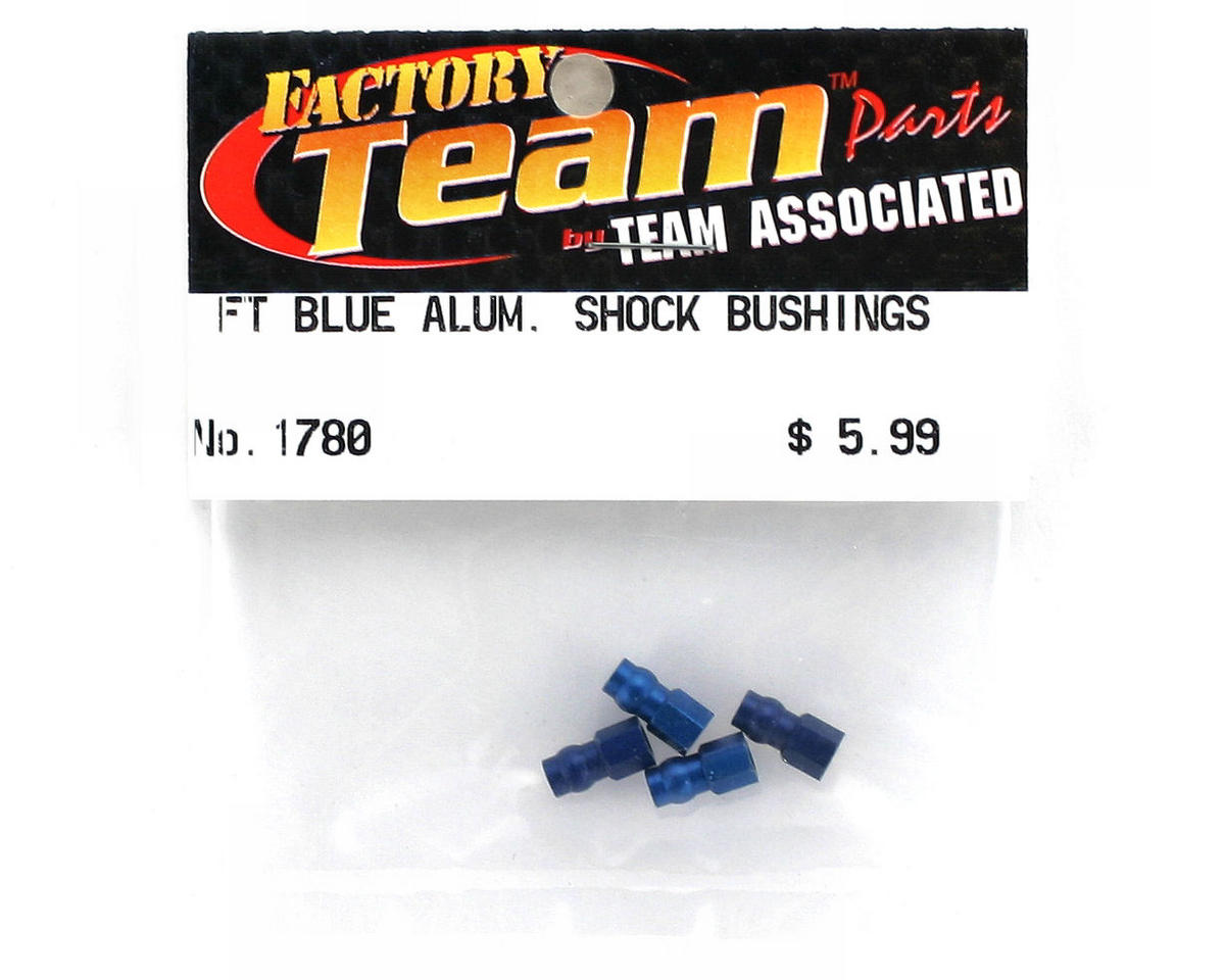 Team Associated Factory Team Aluminum Shock Bushing (Blue) (4)