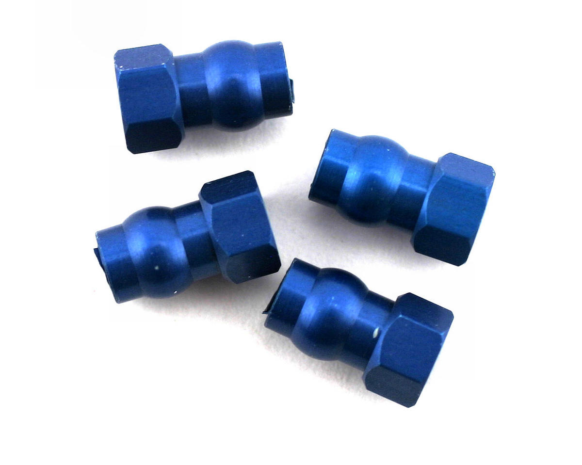 Team Associated RC10 GT2 Factory Aluminum Shock Bushing Short (Blue) (4)
