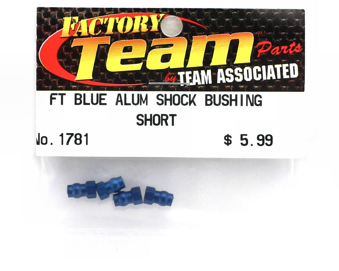 Team Associated Factory Team Aluminum Shock Bushing Short (Blue) (4)