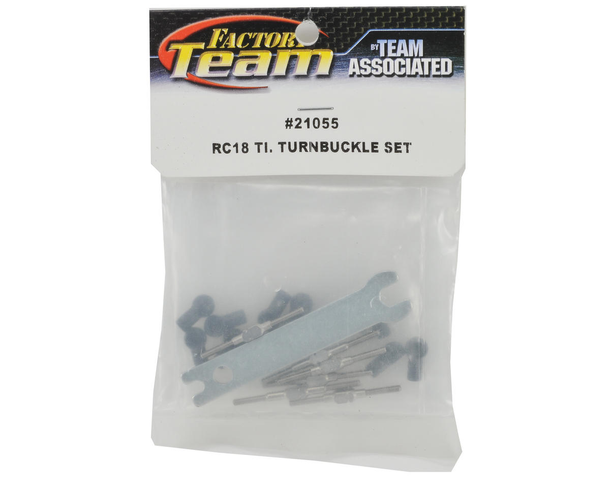 Team Associated Factory Team Titanium Turnbuckle Kit w/Ball Cups & Wrench