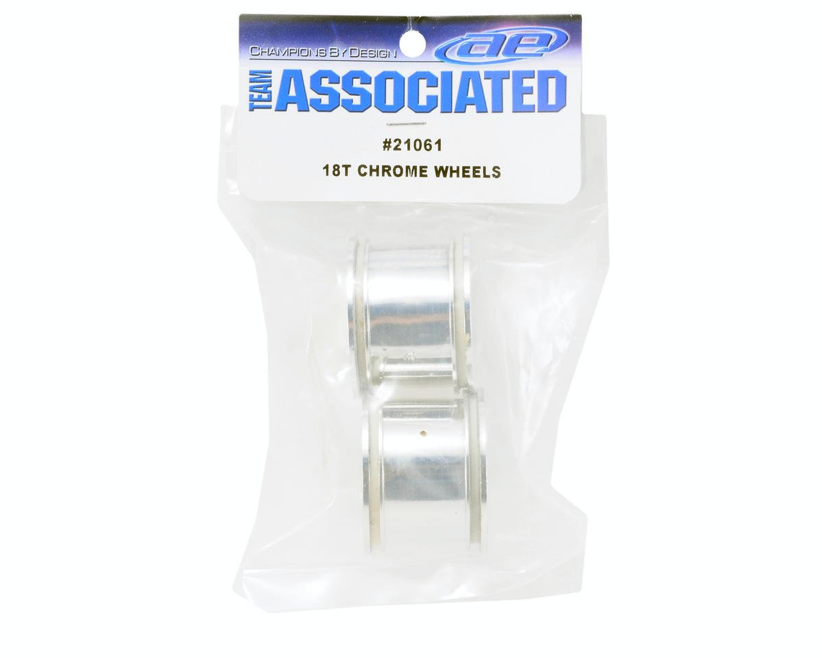 Team Associated Chrome Wheels (2)