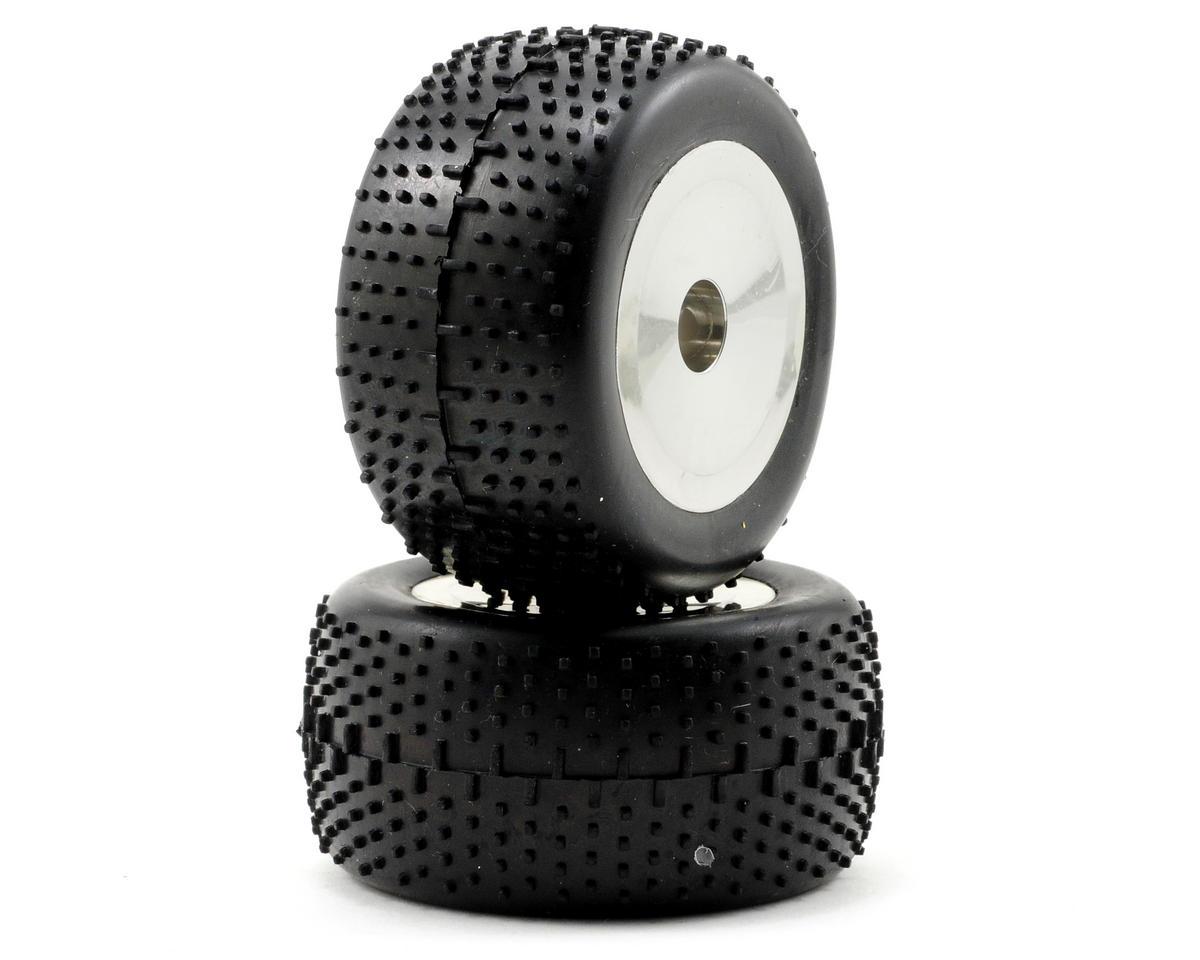 Team Associated Mounted Tires & Wheels (2) (Chrome)