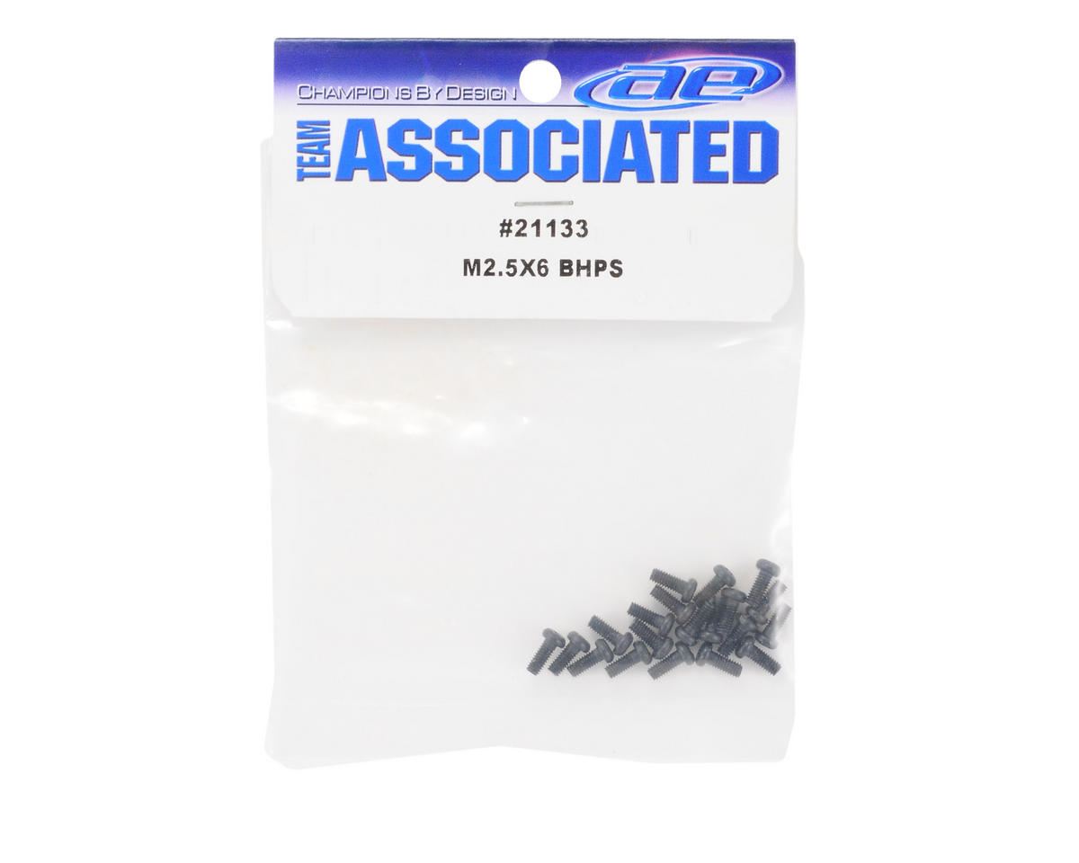 Team Associated 2.5x6mm Button Head Phillips Screws (20)