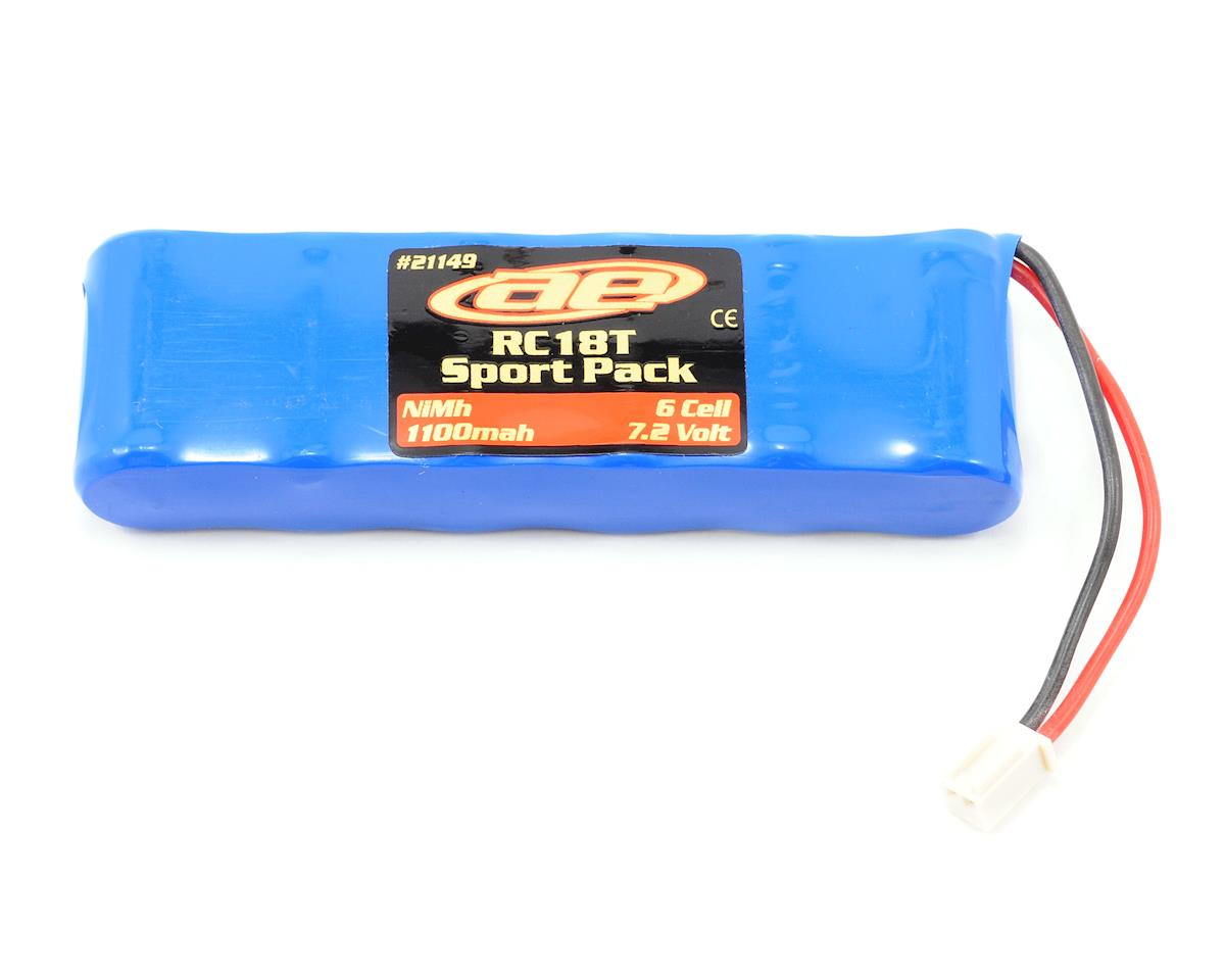 Team Associated RC18B 6 Cell NiMH Sport Battery Pack (7.2V/1100mAh)