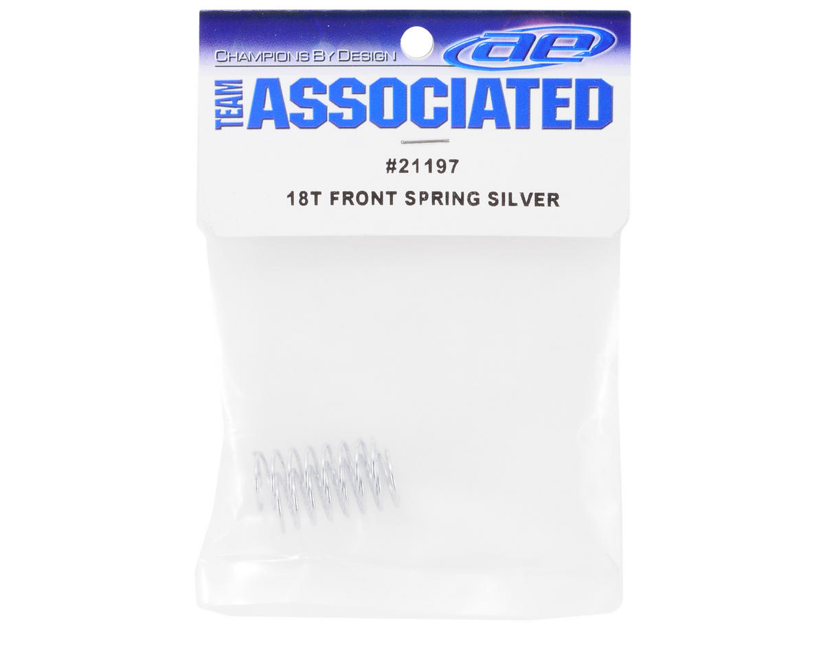 Front Shock Spring (Silver) (2) (2.55lbs) by Team Associated