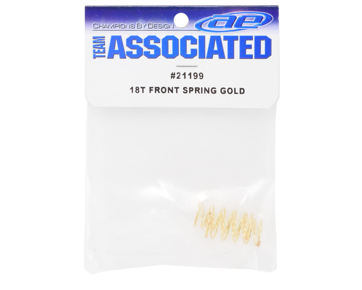 Front Shock Spring (Gold) (2) (3.45lbs) by Team Associated