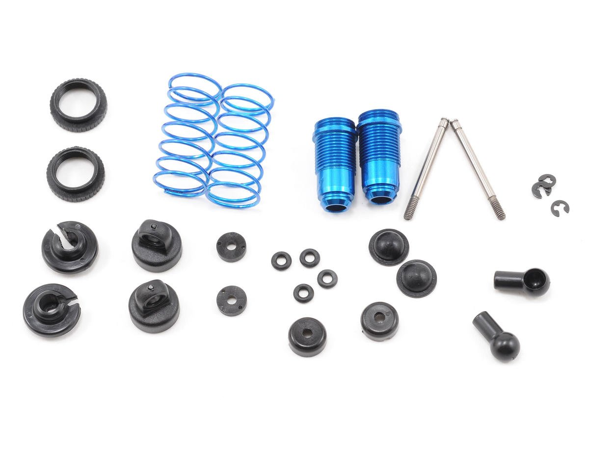 Team Associated RC18MT Factory Aluminum Front Shock Kit (Blue) (2)