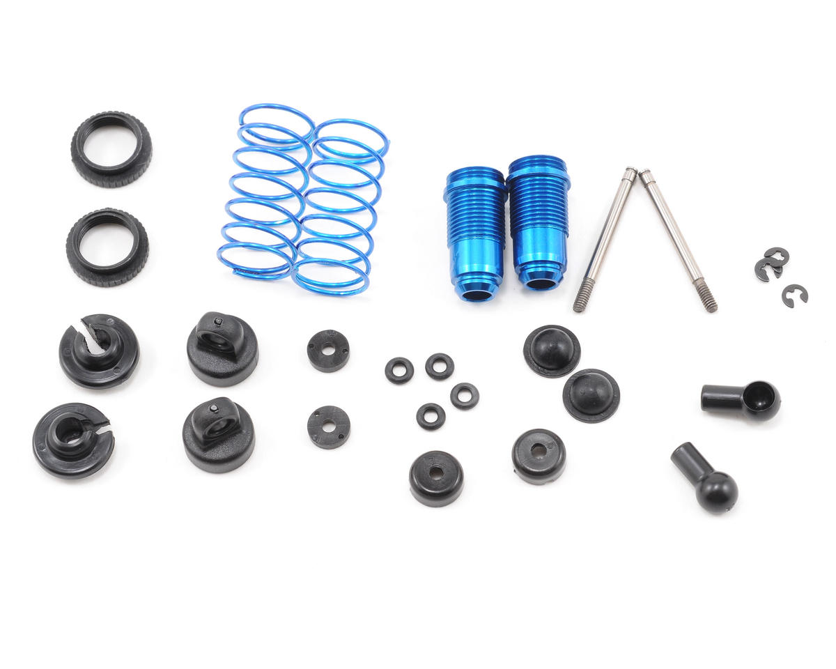 Team Associated RC18B Factory Aluminum Front Shock Kit (Blue) (2)