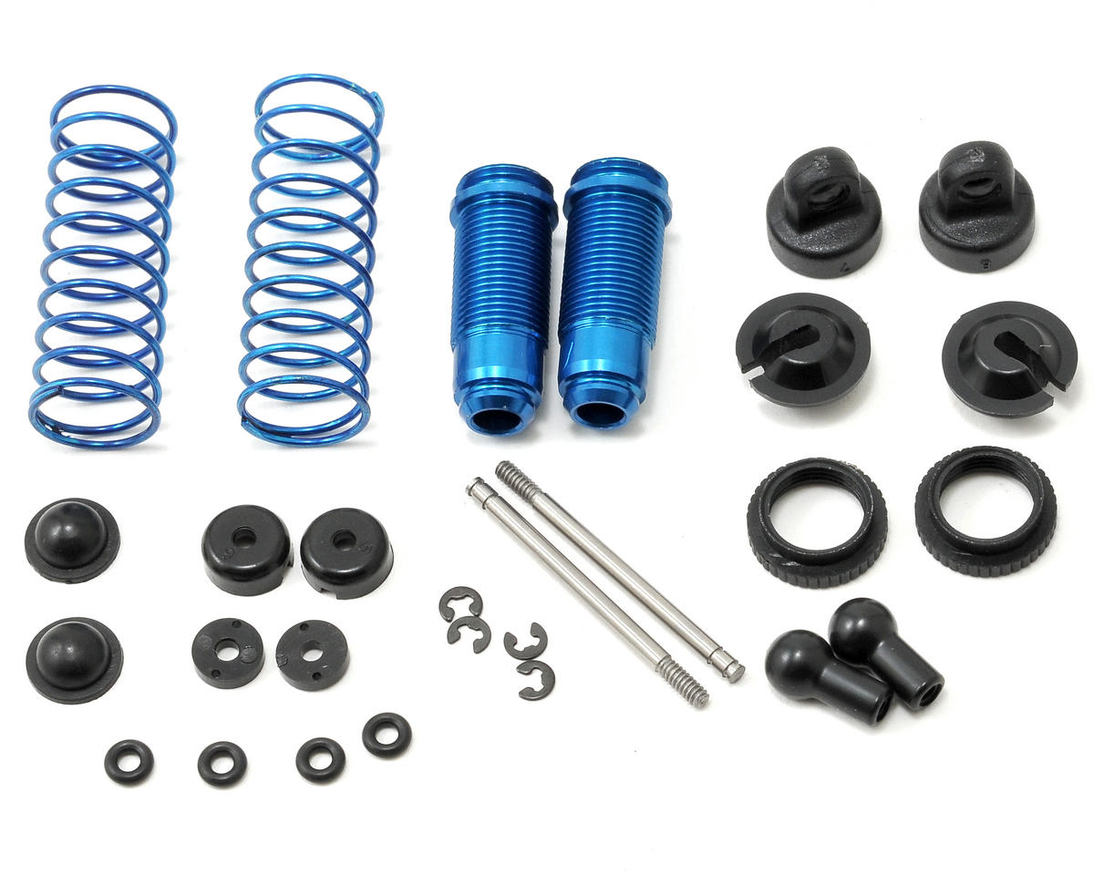 Team Associated RC18B2 Factory Aluminum Rear Shock Kit (Blue)
