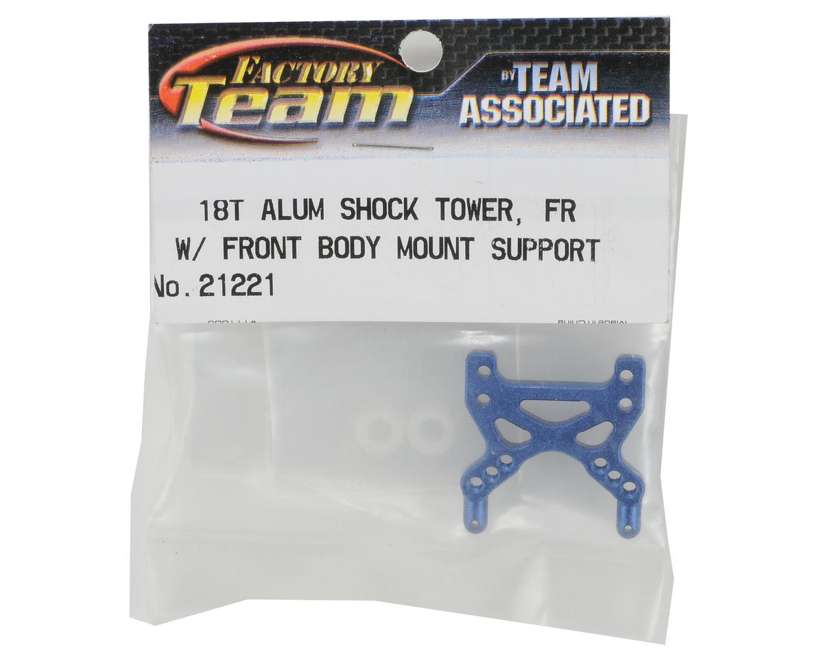 Team Associated Factory Team Aluminum Front Shock Tower (Blue)