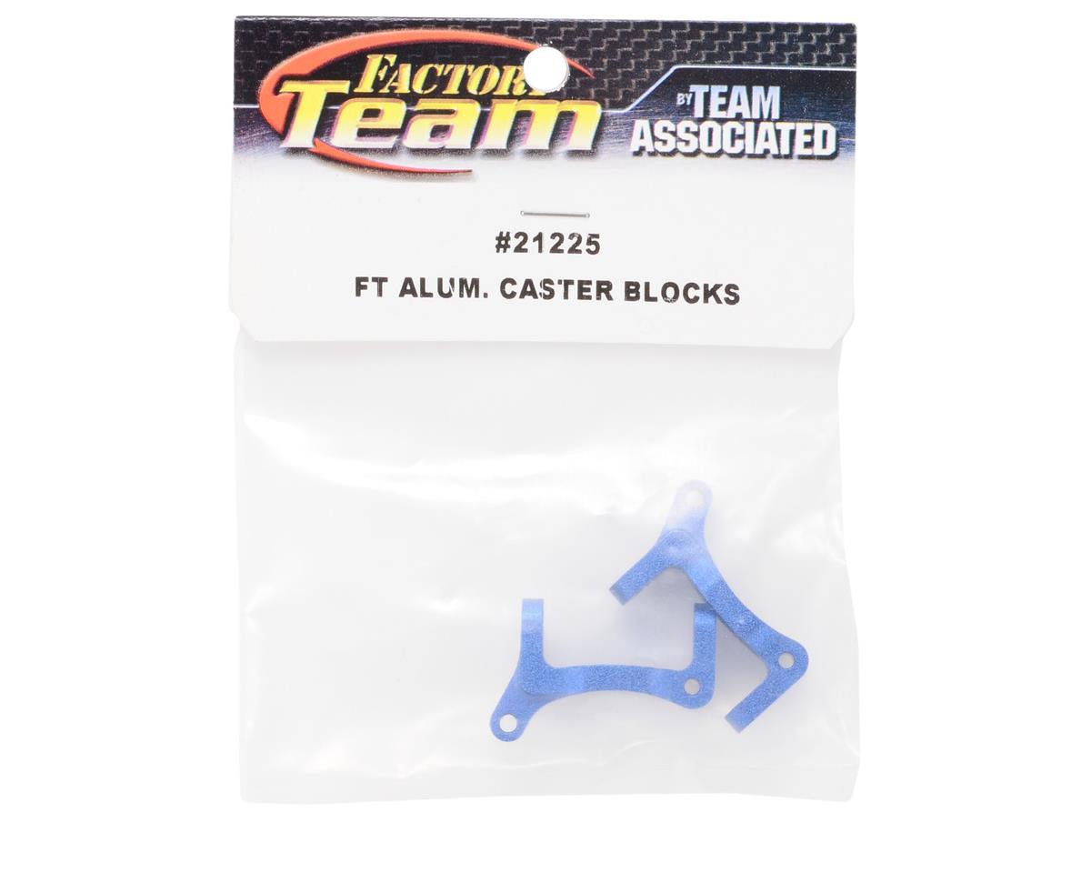 Team Associated Factory Team Aluminum Caster Blocks (Blue) (2)
