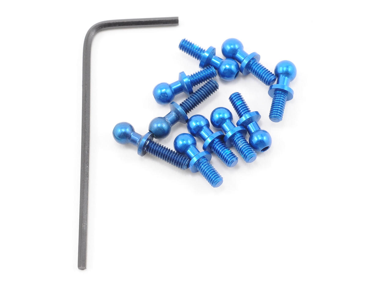 Team Associated RC18MT Factory Aluminum Ball Stud (Blue) (10)