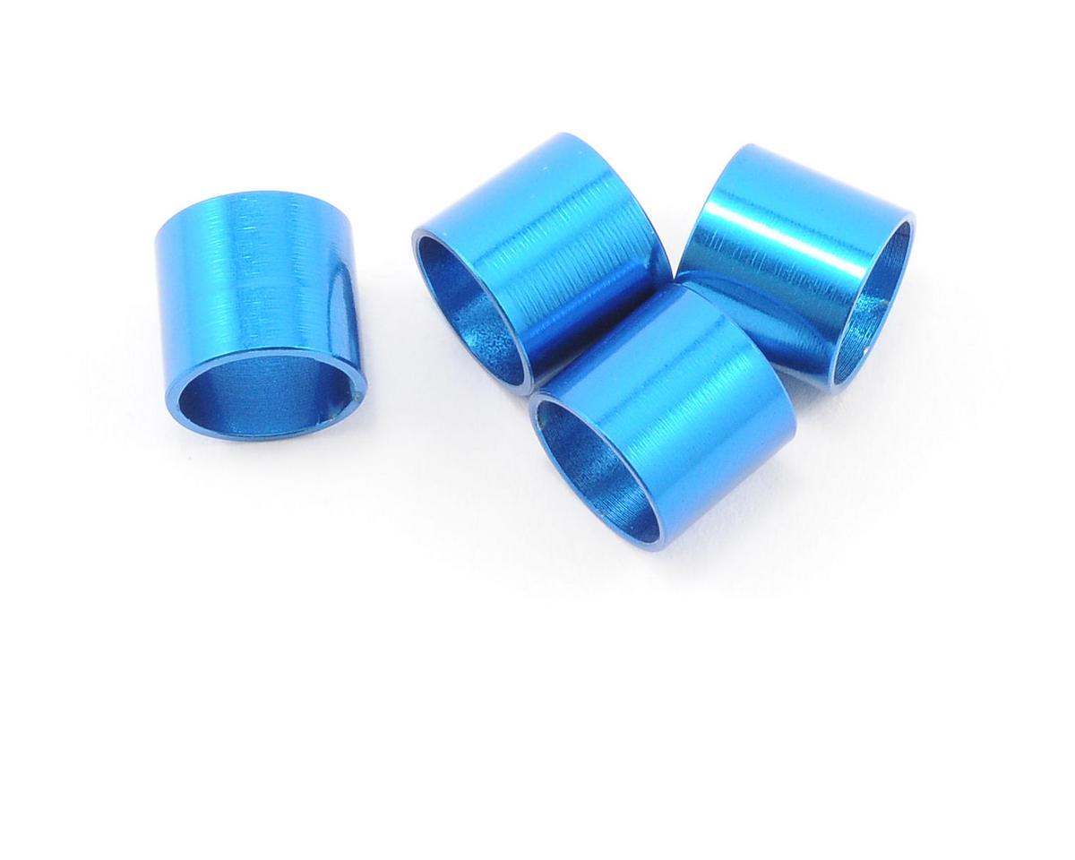 Team Associated Factory Team Aluminum Outdrive Sleeve (Blue) (4)