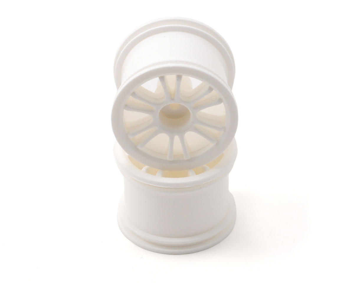 Team Associated RC18B Rear Spoked Wheel (2) (White)