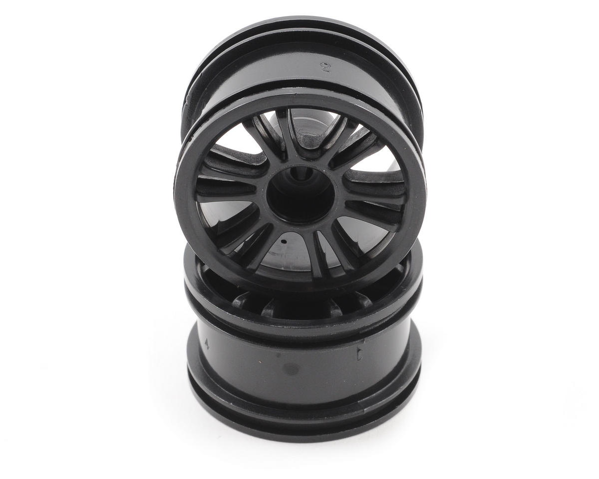 Team Associated RC18B Front Spoked Wheel (2) (Black)