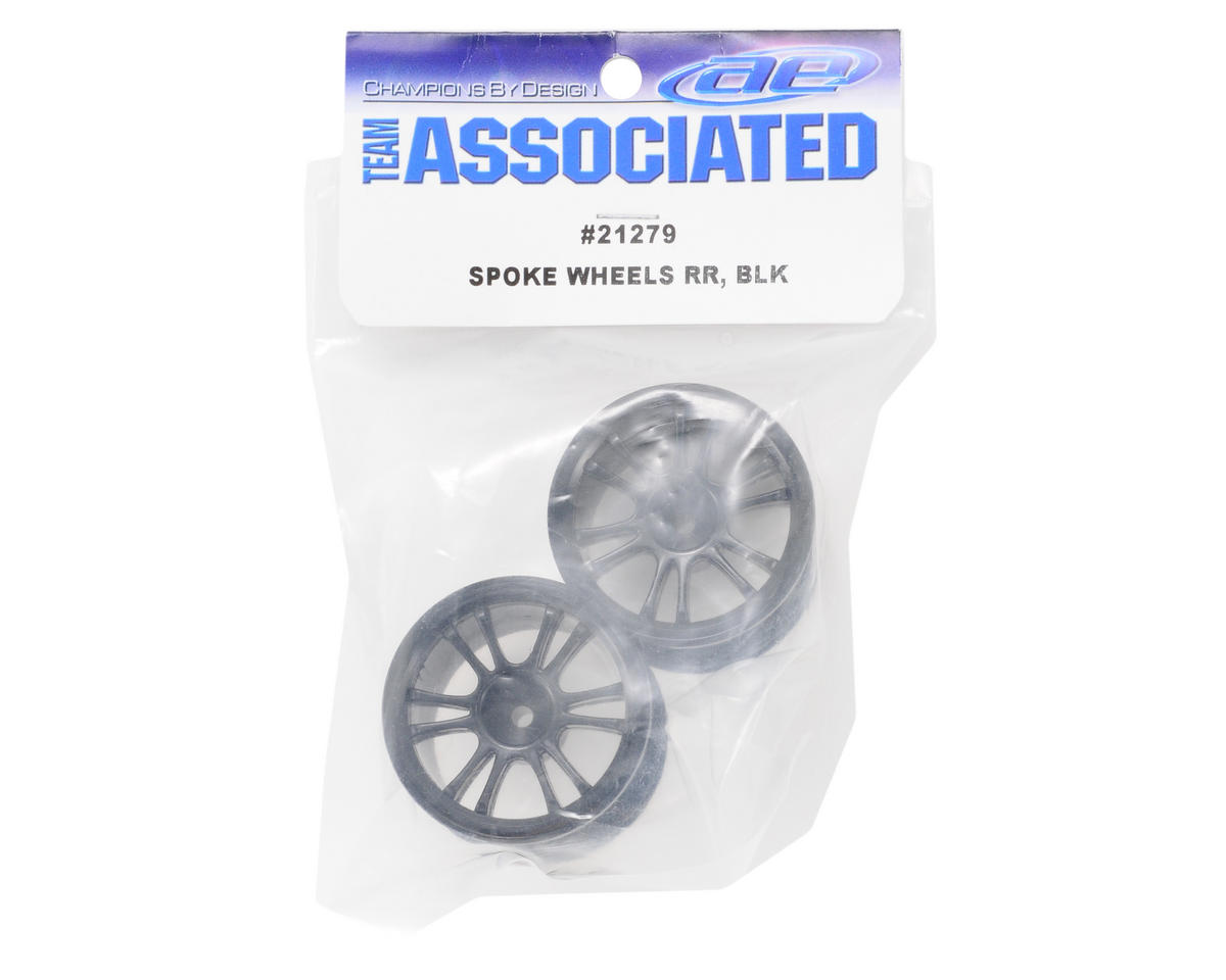 Rear Spoked Wheel (2) (Black) by Team Associated