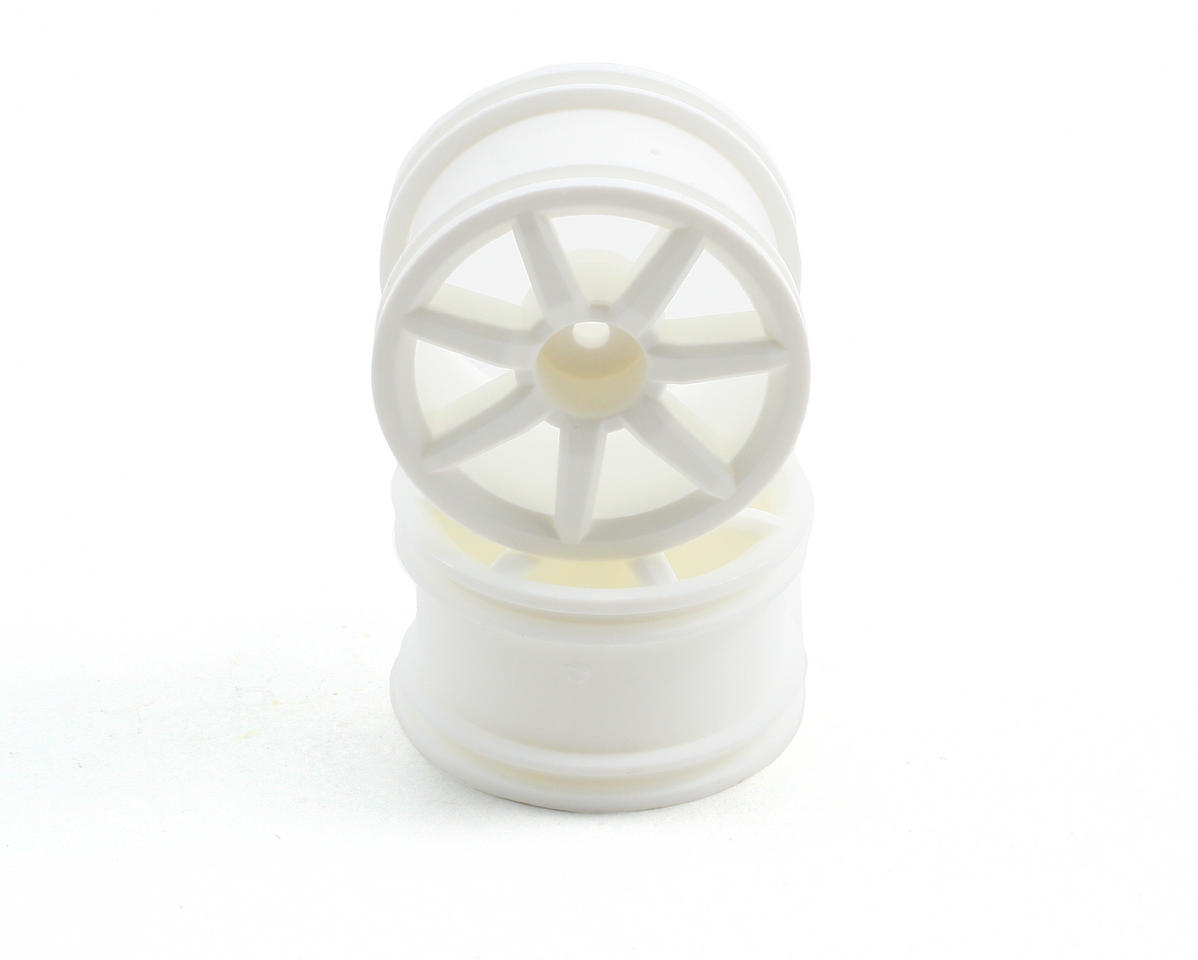 Spoked Wheels (18R) (2) (White) by Team Associated