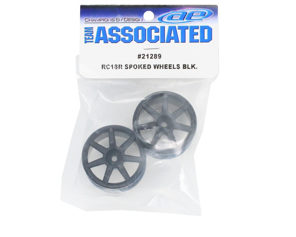 Team Associated Spoked Wheels (18R) (2) (Black)