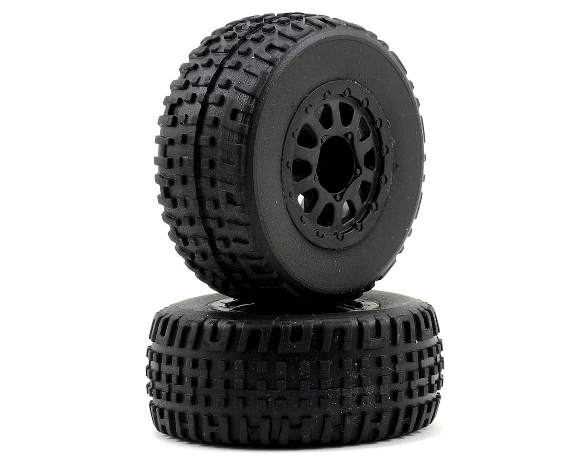 Team Associated SC18 Mounted Wheel & Tire Set (2)