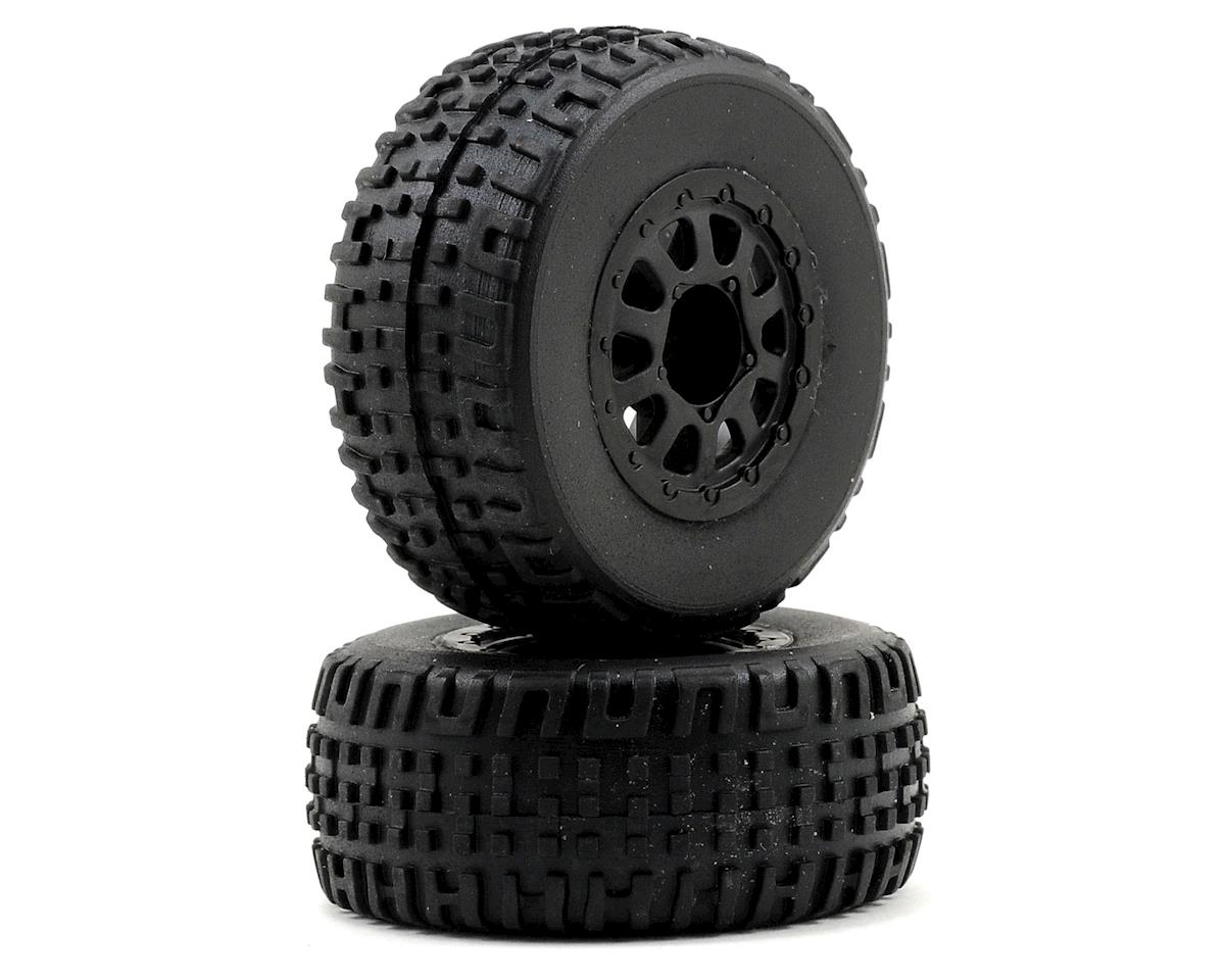 SC18 Mounted Wheel & Tire Set (2) by Team Associated