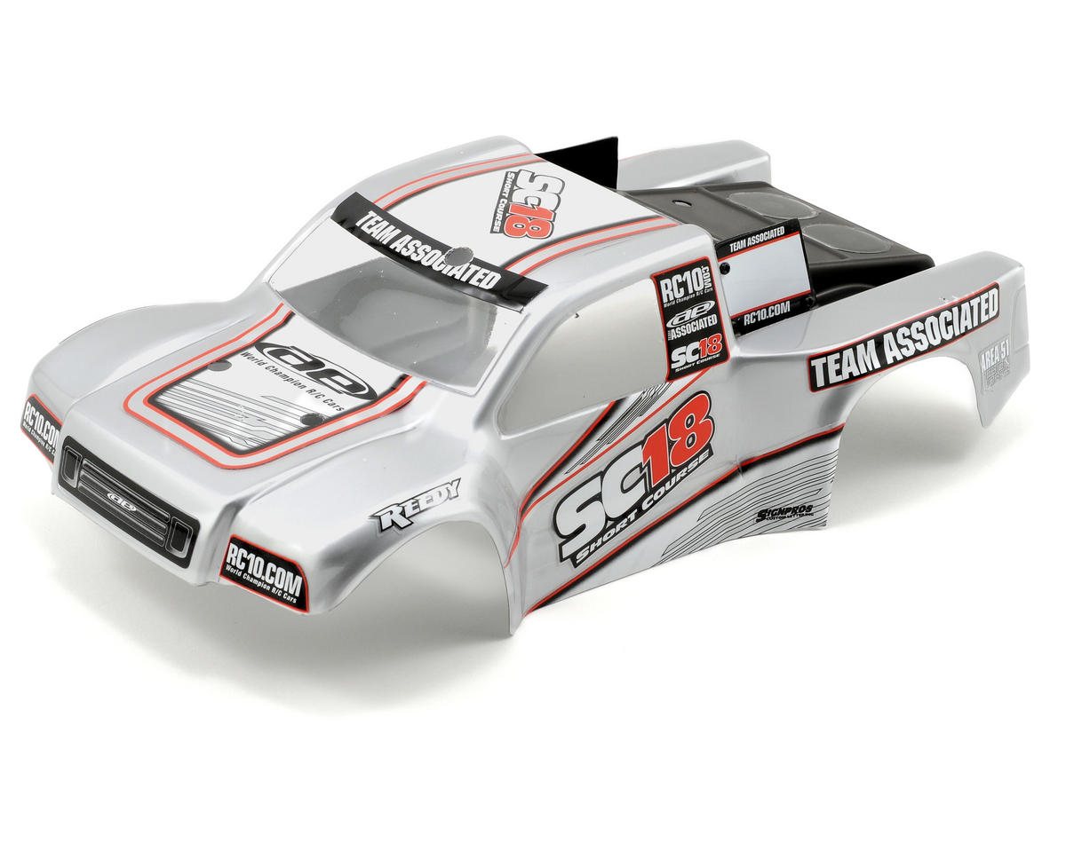 Team Associated SC18 RTR Body (Silver)
