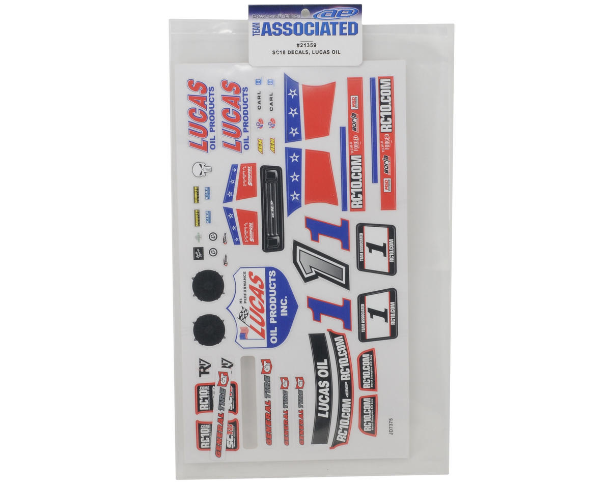 "Team Associated SC18 ""Lucas Oil"" Decal Set"