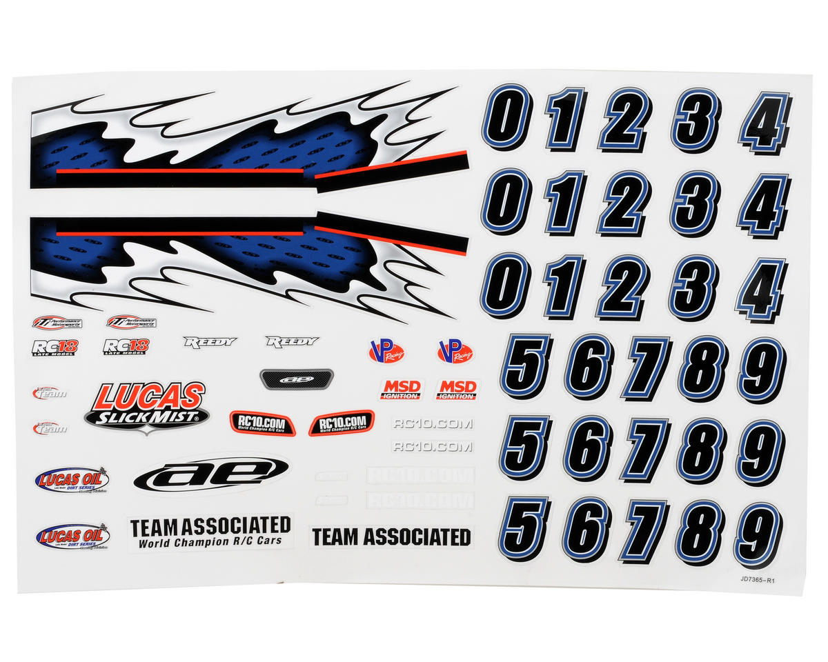 Team Associated 18LM Decal Sheet
