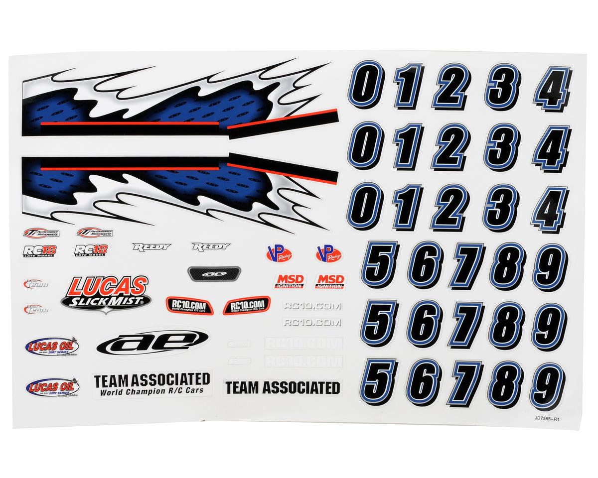 Team Associated 18LM Decal Sheet