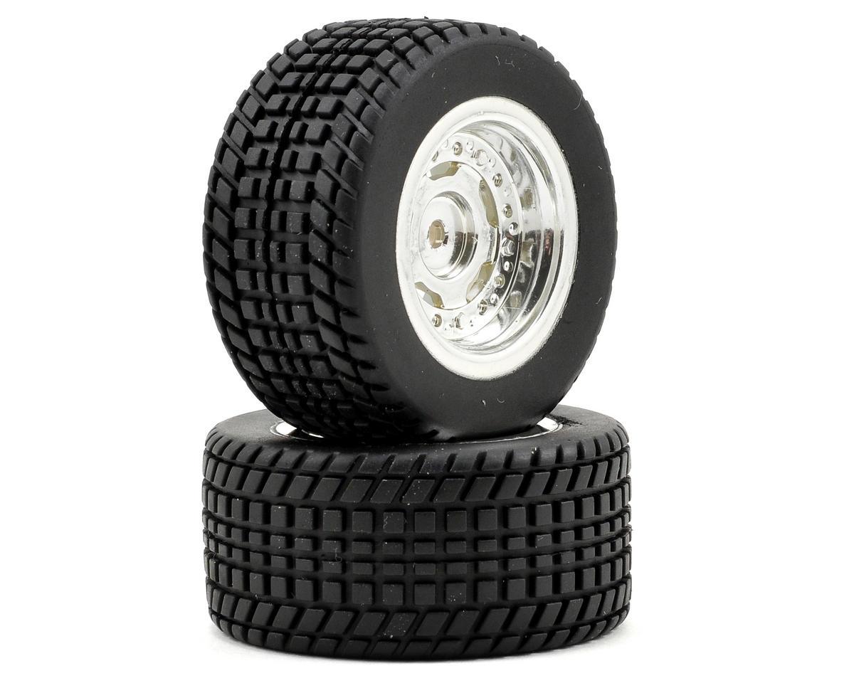 Team Associated Pre-Mounted Wheel/Tire Set (2) (Chrome)