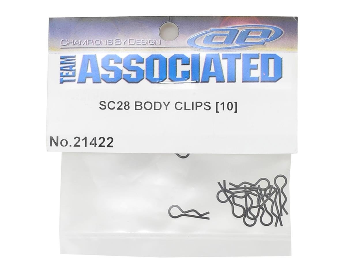 Team Associated SC28 Body Clips (10)