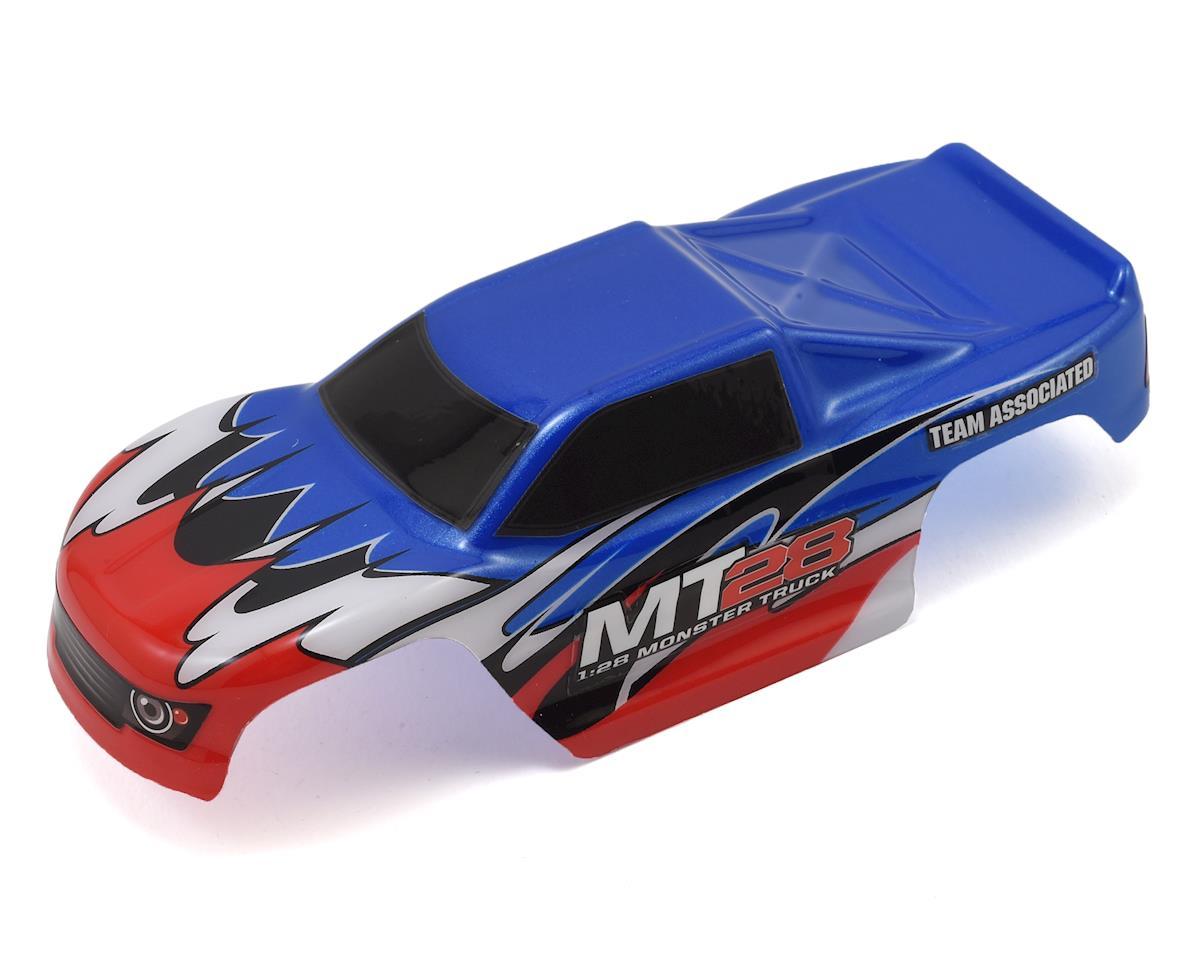 Team Associated MT28 Pre-Painted 1/24 Mini Monster Truck Body (Blue)