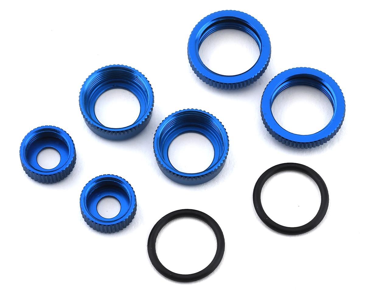 Team Associated Reflex 14B Factory 14B/14T 10mm Aluminum Shock Caps & Collars